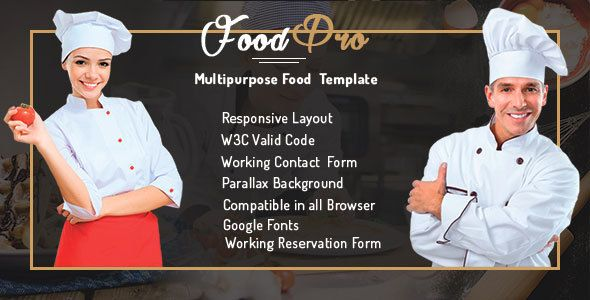 FoodPro Pizza - Icecream - Bakery - Restaurant Multipurpose Template . FoodPro has features such as High Resolution: No, Compatible Browsers: IE10, IE11, Firefox, Safari, Opera, Chrome, Edge, Compatible With: Bootstrap 3.x, Columns: 4+