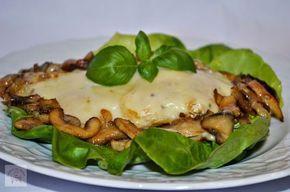 CAIETUL CU RETETE: Piept de pui gratinat cu mozzarella si ciuperci