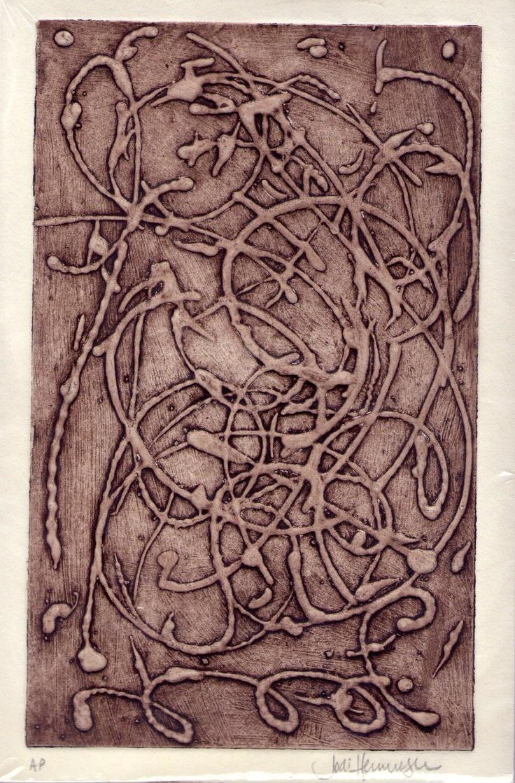 Printmaking: Collagraph plate Jodi Henninger