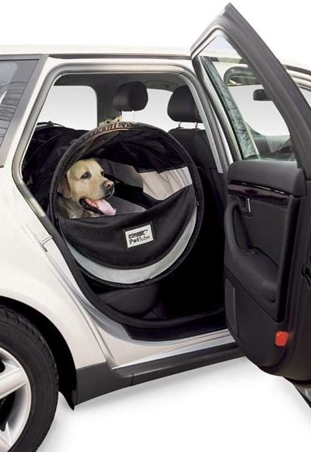 Travel with your best friend while keeping them safe and relaxed in the  Petite Portable Tubular Car Kennel.