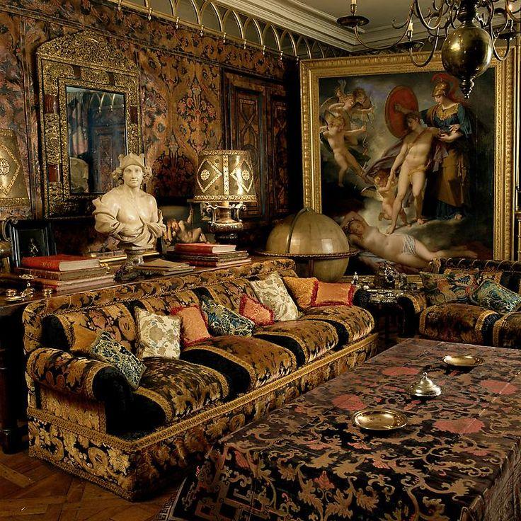 Rudolf Nureyev residence - Persian. Interior: Emilio Carcano. Photography: Elizabeth Heyert