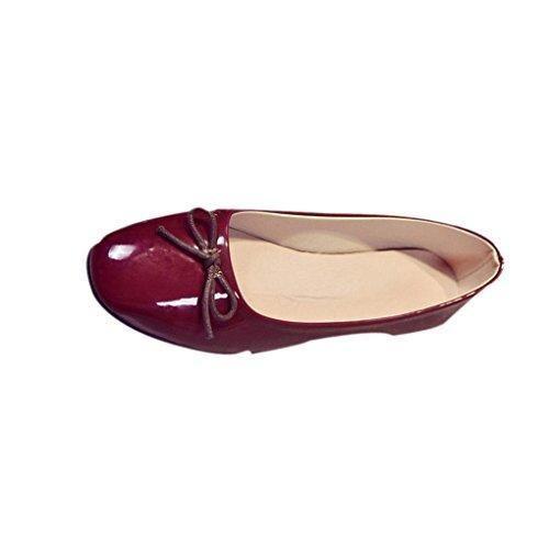Oferta: 9.99€. Comprar Ofertas de Transer® Mujeres Flats Zapatos Zapatos Zapatos Mocasines planos de deslizamiento en la comodidad (39, Vino) barato. ¡Mira las ofertas!