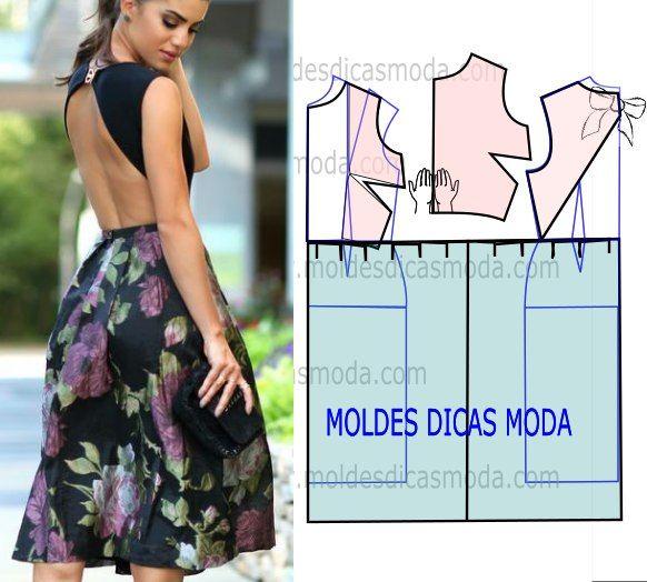 Moldes de vestidos para fiesta de noche para dama04