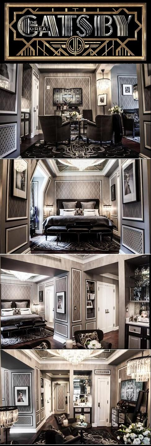 The Great Gatsby (2013) | The Fitzgerald Suite at The Plaza Hotel....I would die if my house looked like this suite!!!! Literally obsessed with the book and can't wait for the new movie Luxury Hotel Interior Designs #hotelinteriordesings