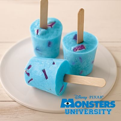 Sully JELL-O Pops! Cute. Easy. Done. Monsters University
