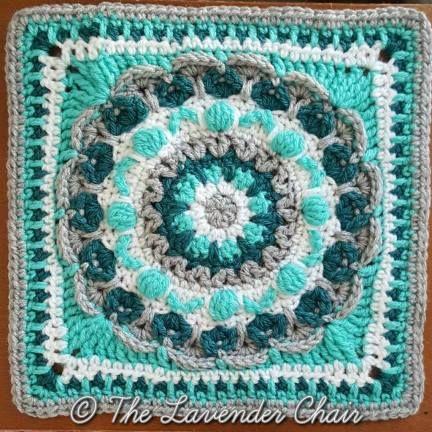 Chrysanthemum Mandala Crochet Square Pattern