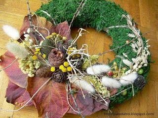Jesienno-świąteczny wianek