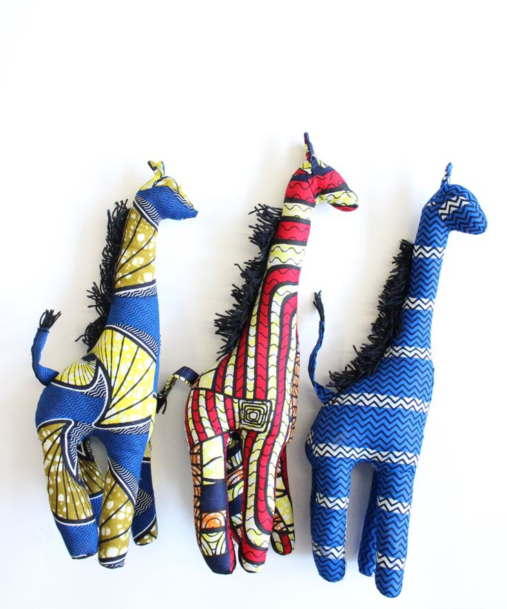 Perfect gift for the little bohemians, African Giraffes from Baba Souk