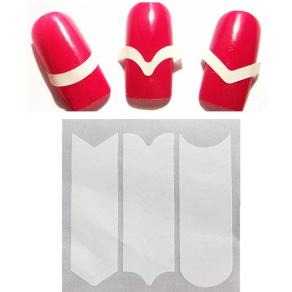 $1.58 1pc Prefect French Manicure Edge Tip Guides Strip Nail Art Toes - BornPrettyStore.com