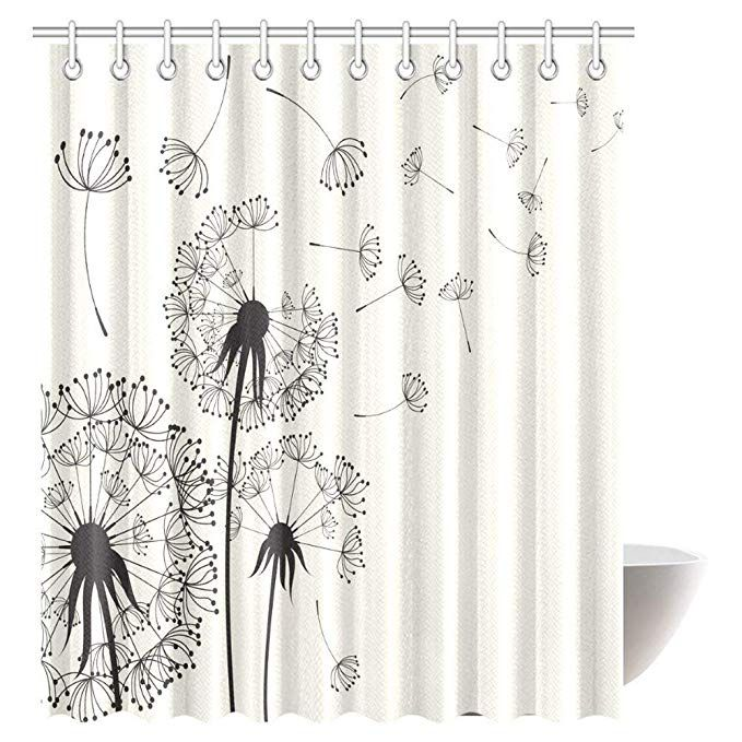 36 Amazon Com Interestprint Dandelions Shower Curtain Flying In