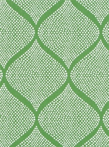Madcap Cottage Mocambo Grass -  Ogee medallion print fabric print from Madcap Cottage collection. Great for bedding fabric, upholstery fabric or drapery curtain fabric.