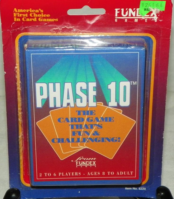 Phase 10 card game by fundex 1992 new old stock no 8220