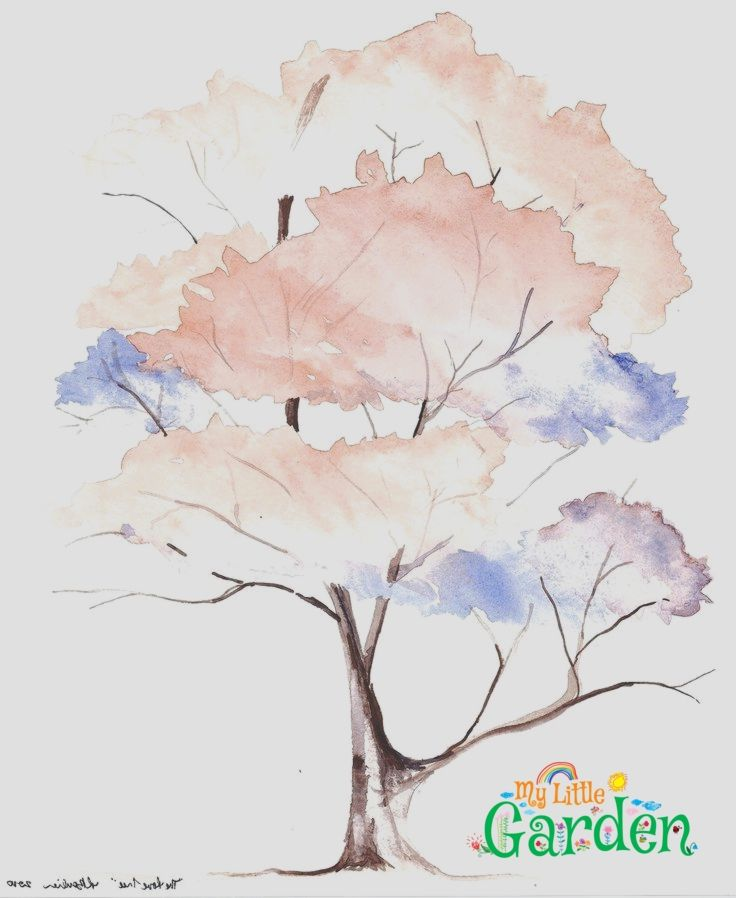 Der Liebesbaum Aquarell 5 3 10 Baum Kleines Aquarell Aquarell