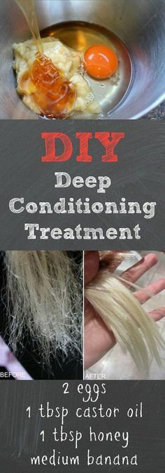 This DIY deep conditioning treatment works way better than store bough deep conditioners, and it's super cheap to make! We love this DIY deep conditioning treatment because it leaves your hair extremely soft, manageable, and will also protect colored hair. With all natural ingredients such as egg, castor oil, and honey, this deep conditioning treatment is the ONLY one you'll ever need.