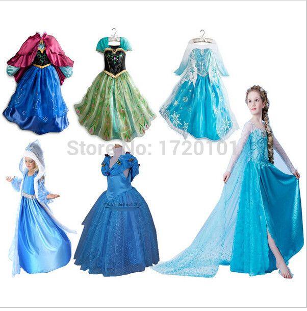 Šaty z Ledového království, od 200 Kč #dárky #vánoce #děti #rodina #tip3dmámablog.cz #aliexpress