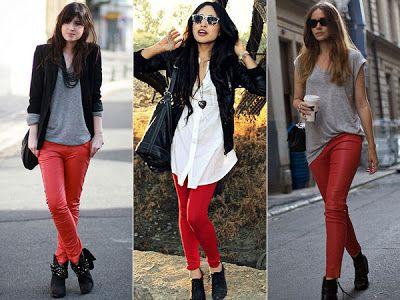 Combinando un pantalón rojo