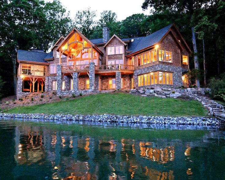 17 best ideas about lake house plans on pinterest house for Luxury lake house