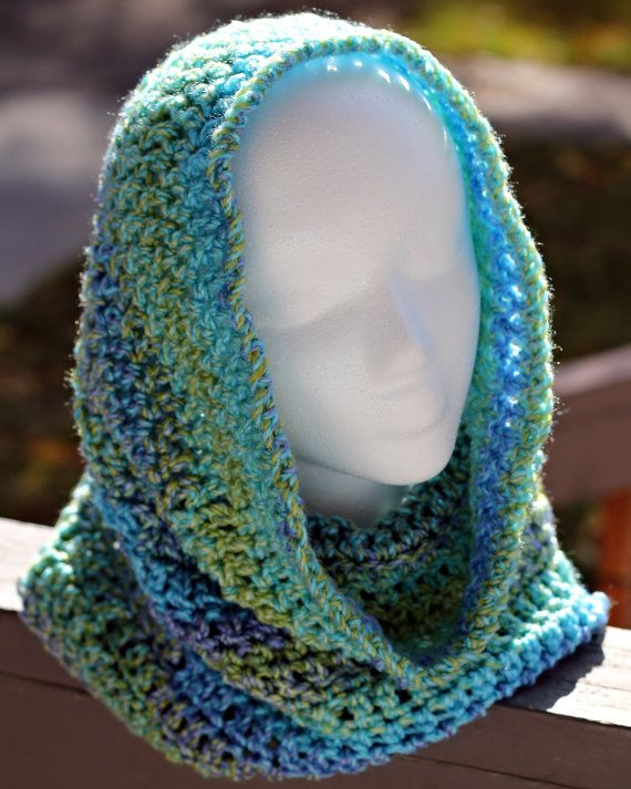 Cozy Crochet Cowl  Beautiful.  Could do this for kids with the knitting circle.