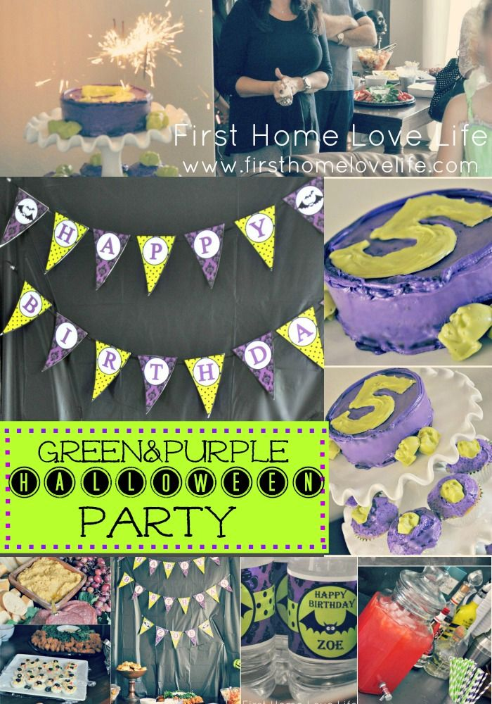Purple and Green #Halloween themed Birthday party @First Home Love Life