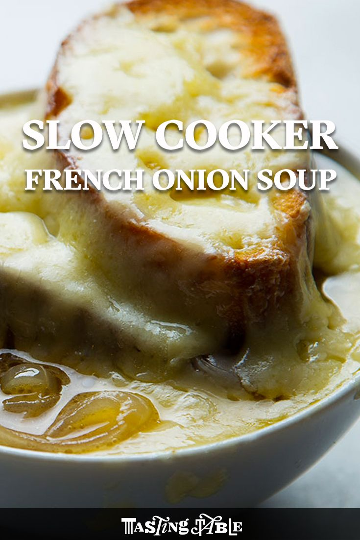 This French onion soup is extra rich, made with slow-cooked shallots and sweet white onions.