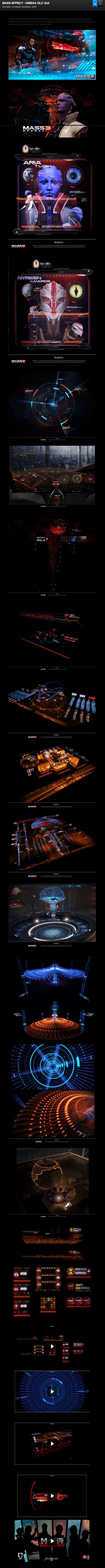 MASS EFFECT - OMEGA DLC GUI, by Eric Bellefeuille