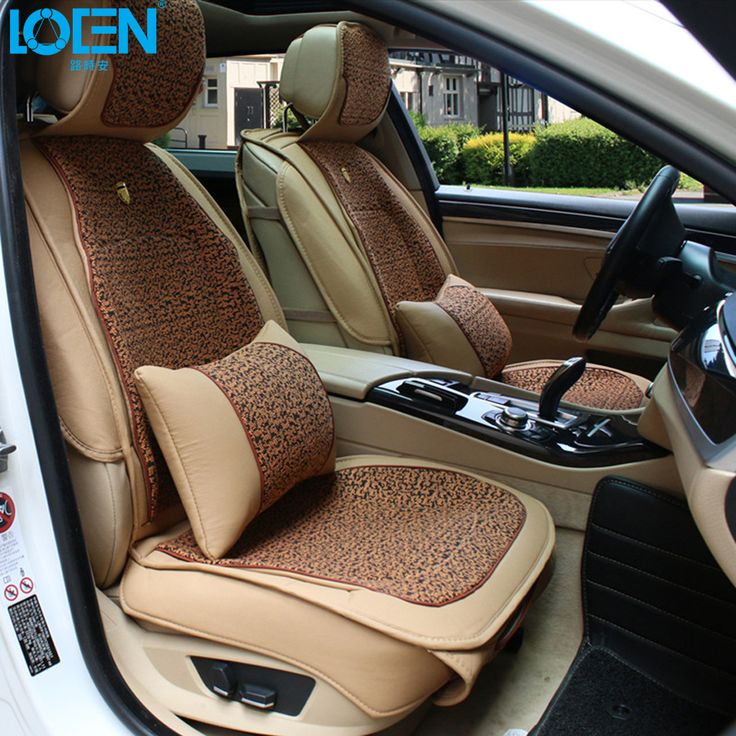 1 Set Linen Car Seat Covers Supports Leather Auto Interior Decoration Accessories Protector For BMW