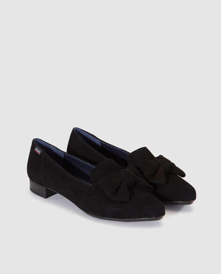 Zapatos planos de mujer Callaghan de piel  en color negro