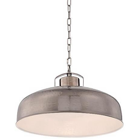Essex 18 wide dyed nickel metal pendant light