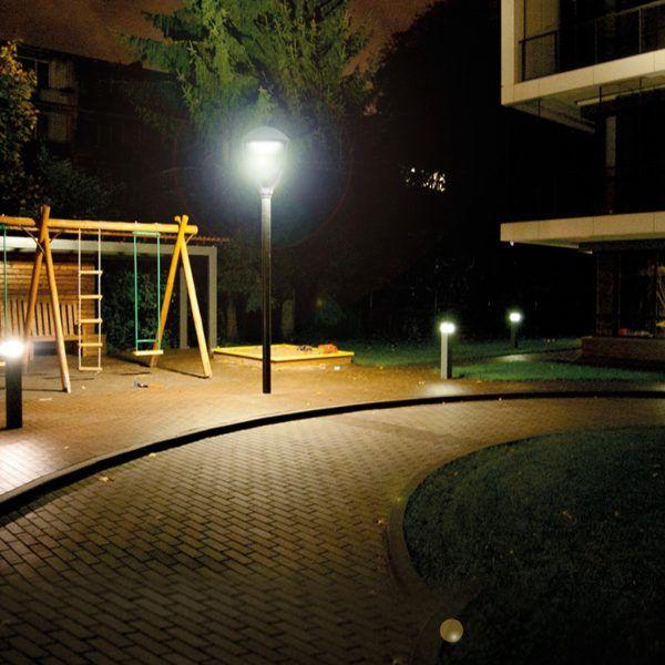 Luminaria Pagoda LED 60 W para plazas, parques, y otro uso exterior. Vida útil de 50.000 hrs #iluminación #LED #pagoda #luz #noche #luminarias
