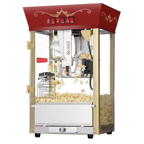 Great Northern Popcorn Red Matinee Movie Theater Style 8 oz. Ounce Antique Popcorn Machine Great Northern Popcorn Company http://smile.amazon.com/dp/B002Z9GDYG/ref=cm_sw_r_pi_dp_Y-gQub1RZM9S1