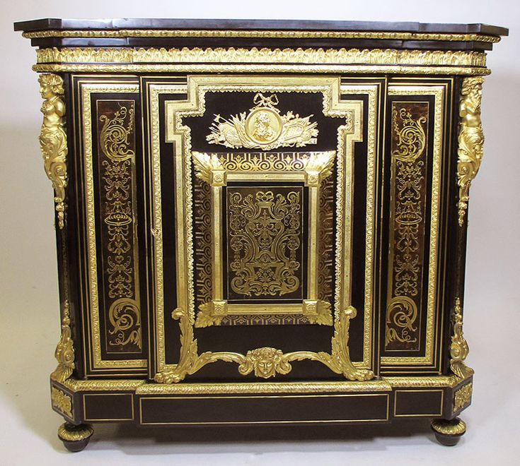 A fine french napoleon iii ebonized gilt bronze mounted for Meuble for french furniture