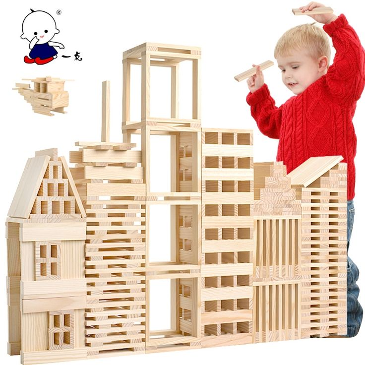 27.59$  Watch now  - Free Shipping!Baby Toy 100pcs City Blocks Child Building Wooden Blocks Educational Toys Baby Gift Popular Games