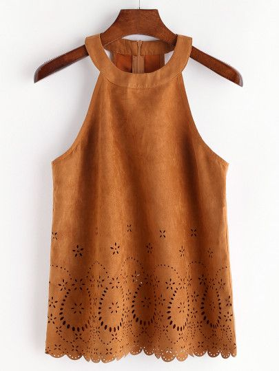 http://m.shein.com/us/Camel-Laser-Cut-Out-Halter-Neck-Suede-Top-p-332221-cat-1779.html