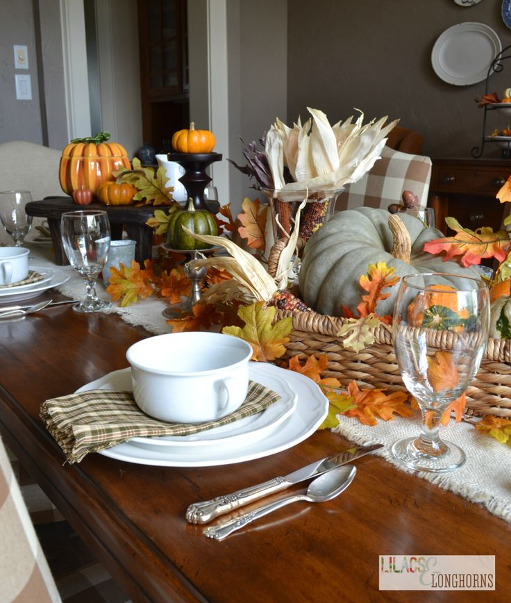 Pottery barn inspired table setting for fall diy home for Thanksgiving home decorations pinterest