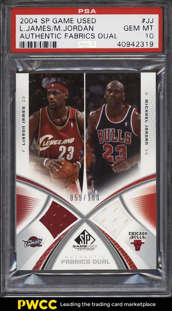 new product f9475 4424d 2004 SP Game Used Dual LeBron James Michael Jordan JERSEY ...