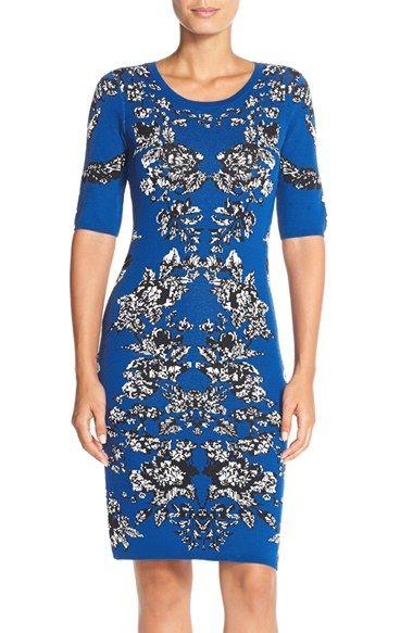 Adrianna PapellIntarsiaKnitBody-Con Dress available at #Nordstrom