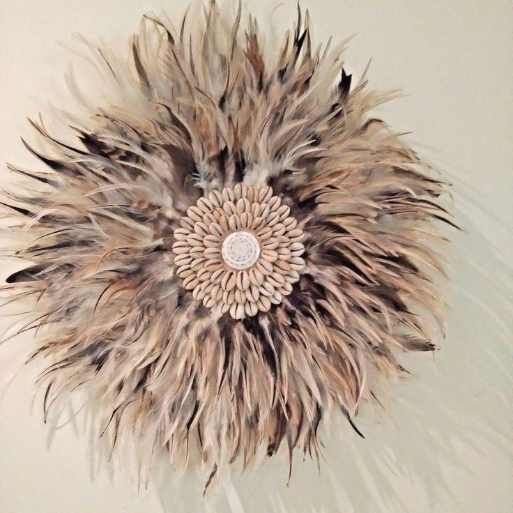 Feather Boho Tribal Juju, Brown &cream Feathers Medium size 42-45cm Home Decor