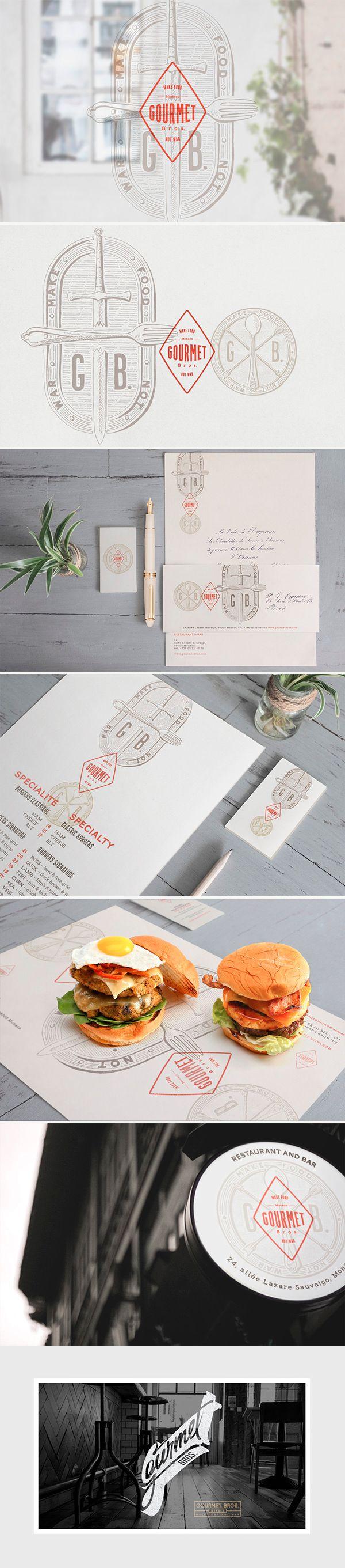 identity / gourmet bros. / restaurant