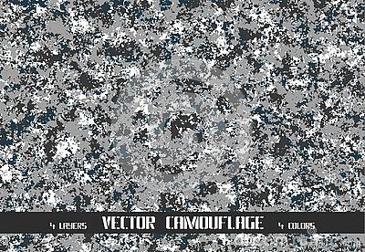 Vector winter pixel camouflage background
