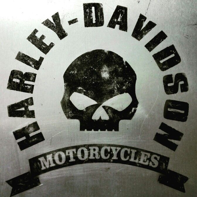 plate airbrushed vintage style Harley Davidson