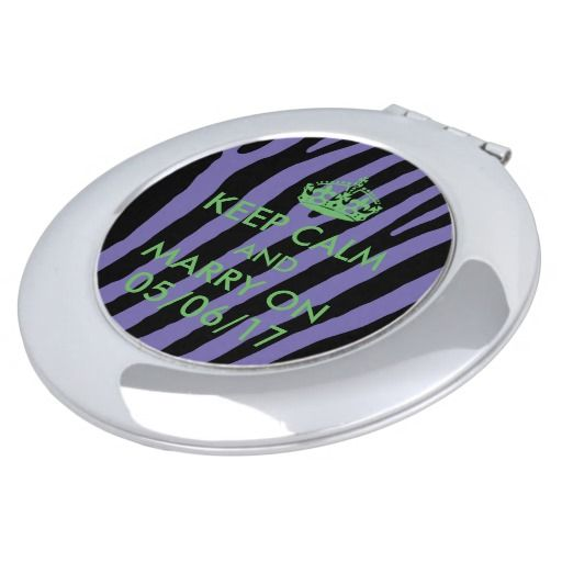 Bride party gift personalized purple & lime green vanity mirror