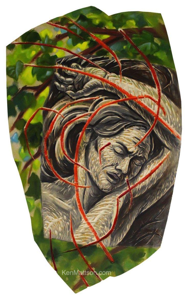 """Dermis"" oil on wood panel, Artist: Ken Mattson.  Much more at: http://kenmattson.com/?page_id=3138    #KenMattson #KenMatsonArt #ContemporaryArt #ArtCollecting"