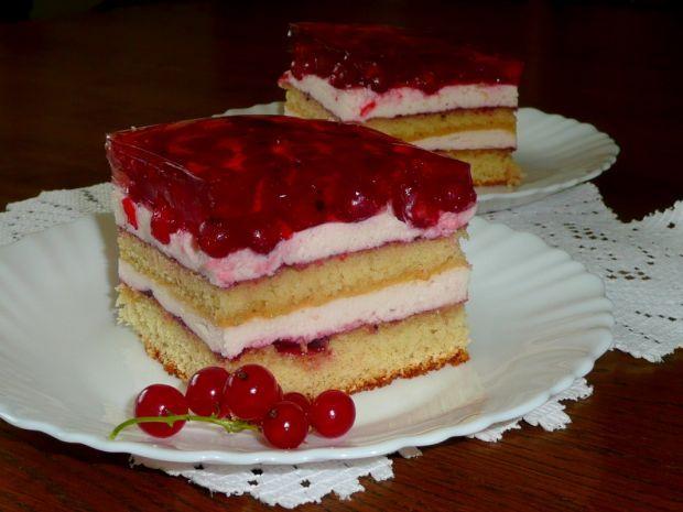 Ciasto z czerwonymi porzeczkami. Niebo w gębie!