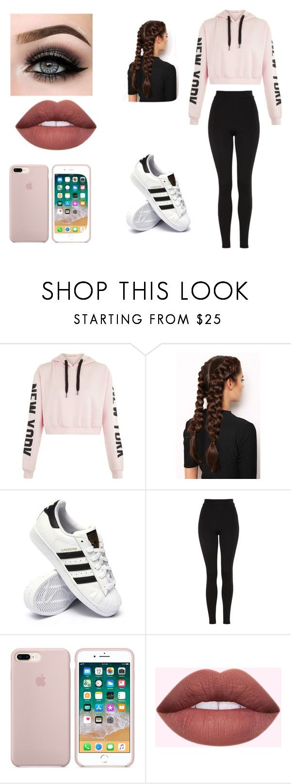 """Dance practice #2"" by pagemoore on Polyvore featuring LullaBellz, adidas, Topshop and ASAP"