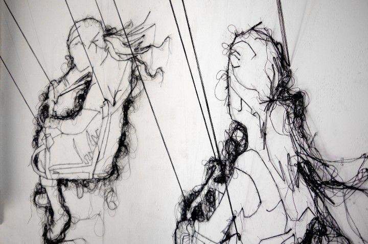 Client: Textile artist Debbie Smyth I installation 'Full Swing' #AbbiKirby