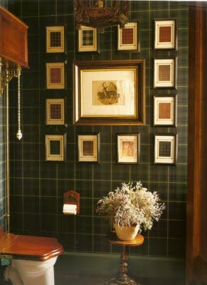 I've been planning to frame some tartan book plates for some time. They may go live in my loo.