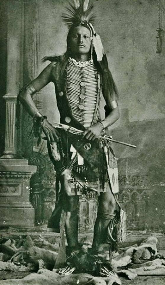 Snake Whistle (aka Young Wild Hog, aka Bird Wild Hog), the son of Wild Hog (Northern Cheyenne)  Stands In Lodge (Oglala Lakota), and the husband of Lydia Little Wolf-Wild Hog  Northern Cheyenne 1880