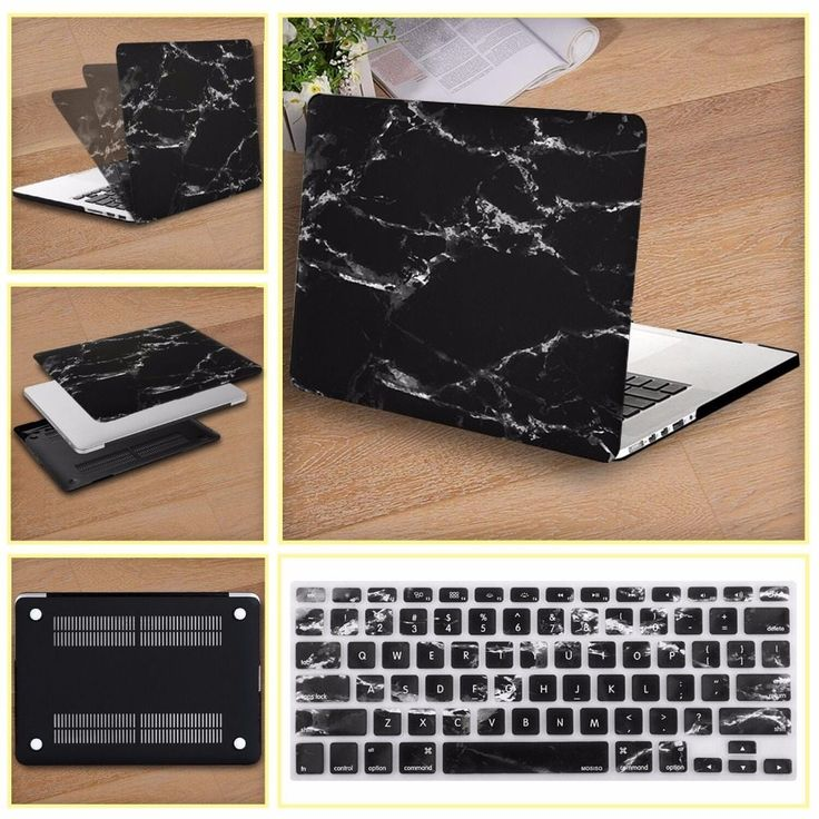<b>Mosiso</b> For Macbook Pro 13 13.3 Black Marble Shell <b>Case</b> For Mac ...