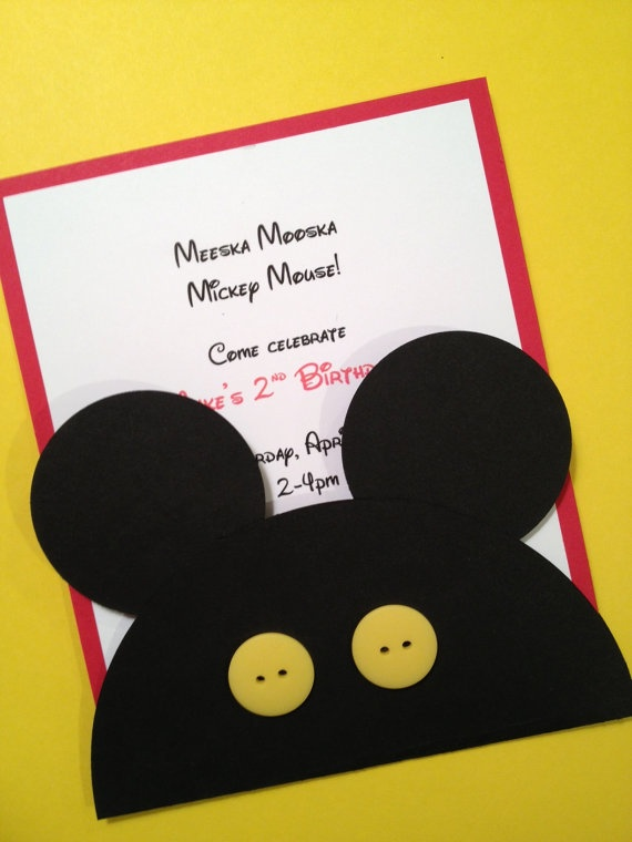 12 best mickey invite images – Handmade Mickey Mouse Birthday Invitations
