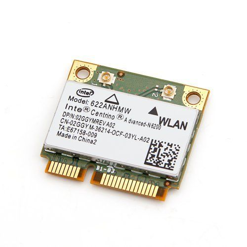 New Pcie Half Mini Card Intel Centrino Advanced-n 6200 Agn 622anhmw 802.11 A/g/n 300 Mbps by Intel. $11.28. Features:    For half size mini pci-e slot, Not for IBM Lenovo and HP machines. *Up to 300Mbps of bandwidth  *Up to 2X greater range  *IEEE standards based 802.11a/b/g/n WLAN adapter  *Wi-Fi Personal Area Network capabilities  *Industry leading power consumption  *Wireless support for intel Active Management Technology  *Advanced security via 802.11i  *Easy to use...